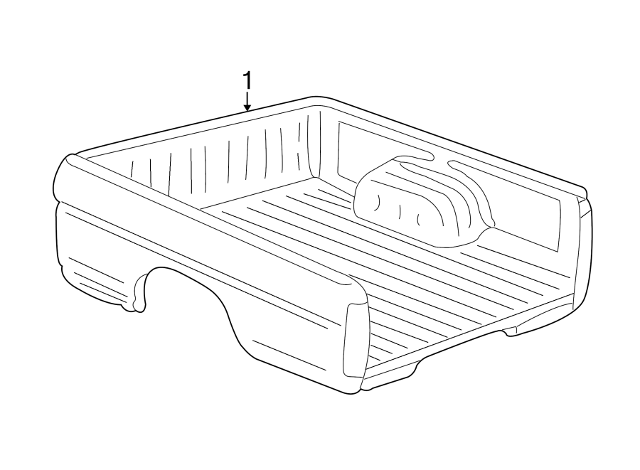 nissan frontier bed  outer of prod  pickup box assembly
