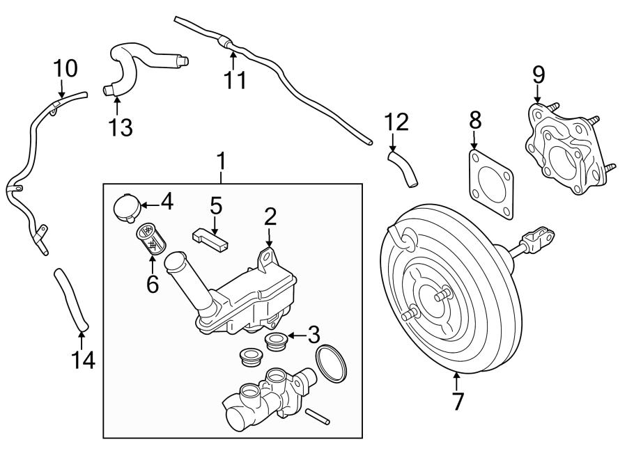 2012 nissan juke cylinder  master  brake  includes  master