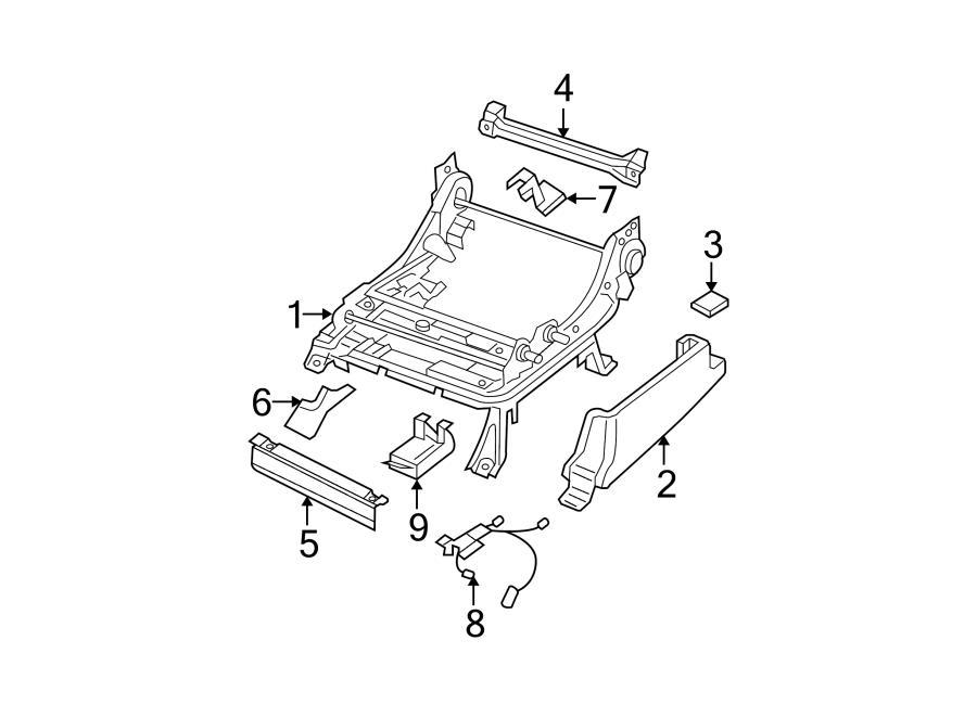 2005 nissan pathfinder power seat wiring harness  left