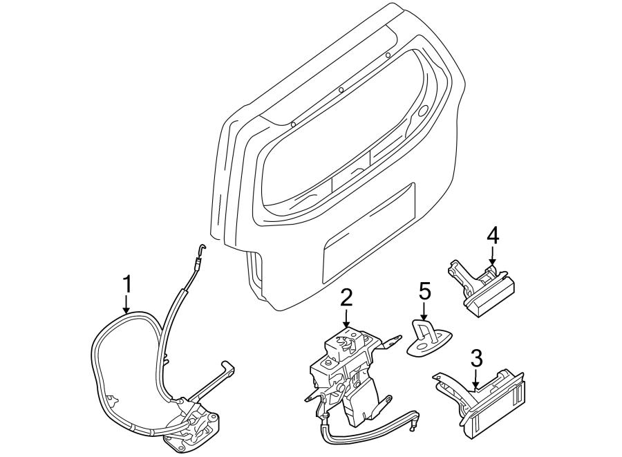 nissan pathfinder lock  latch  assembly