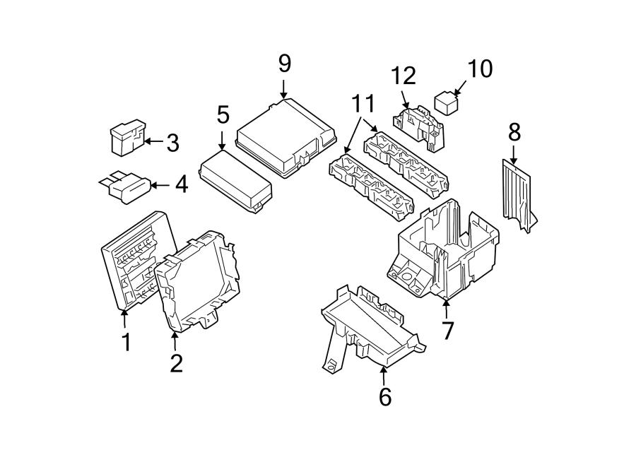 nissan xterra fuse box housing relay under hood. Black Bedroom Furniture Sets. Home Design Ideas