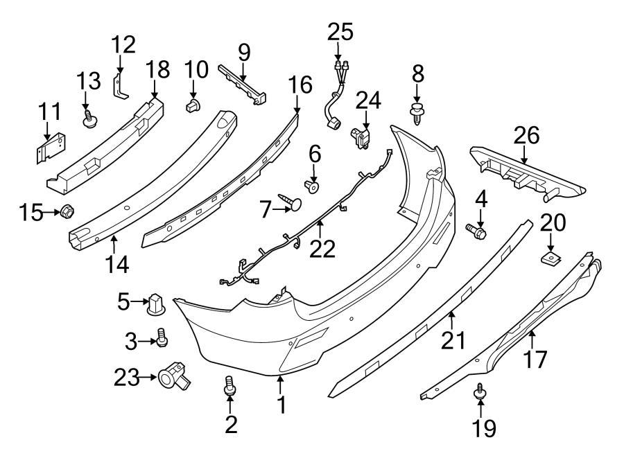 2015 nissan pathfinder parking aid system wiring harness
