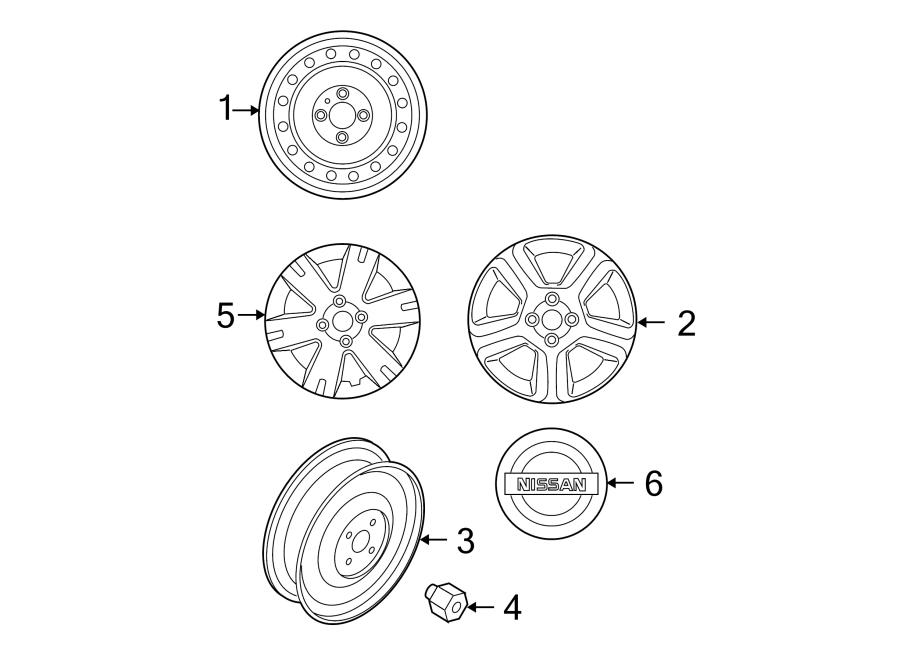 403004ba8e - nissan road wheel  wheel assembly