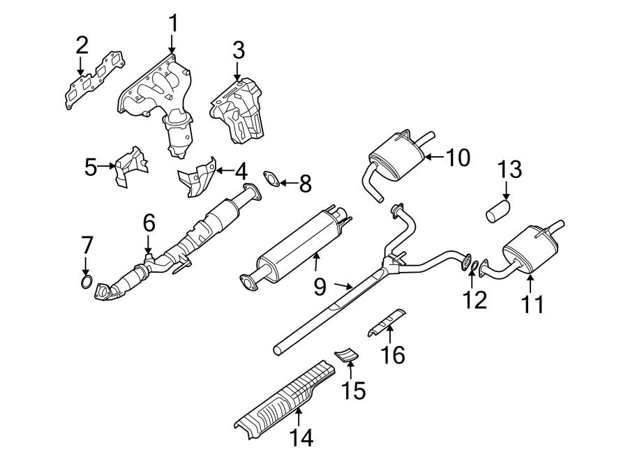 2009 nissan altima exhaust manifold gasket  manifold