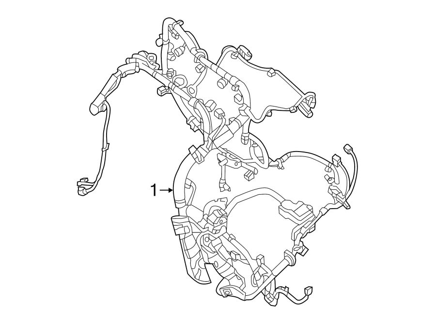 nissan altima engine wiring harness  2 5 liter  federal