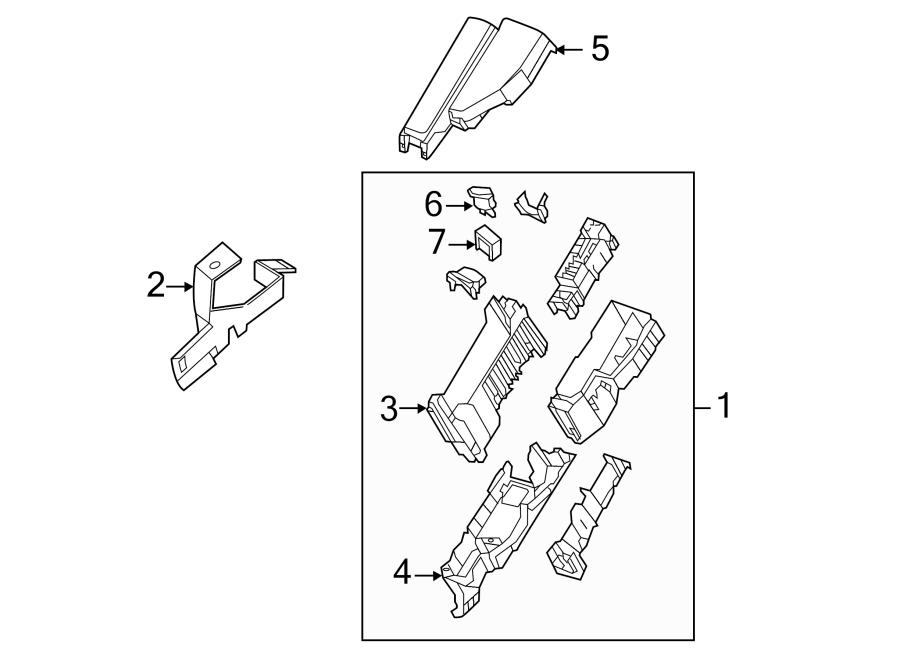 2015 nissan altima fuse and relay center bracket engine. Black Bedroom Furniture Sets. Home Design Ideas