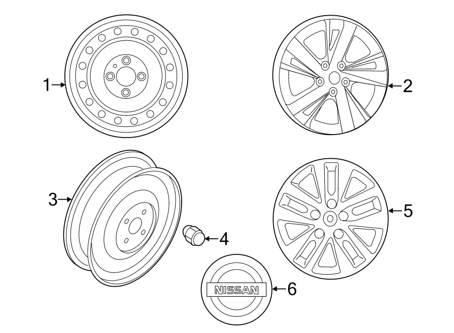 nissan altima road wheel  wheel assembly