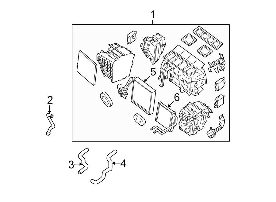 2015 Nissan Altima A C Evaporator Core Evaporator Core