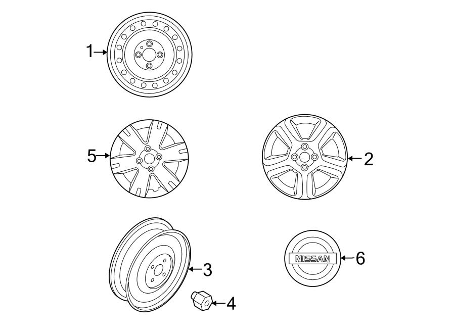 nissan altima center cap  ornament - disc w  wheel cap  wheels  covers  trim