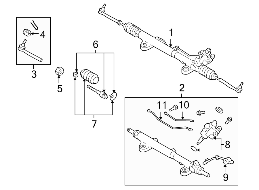 nissan gt-r rack and pinion assembly  steering  gear  make