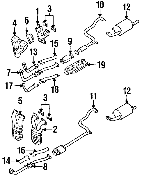 nissan 200sx catalytic converter with integrated exhaust manifold