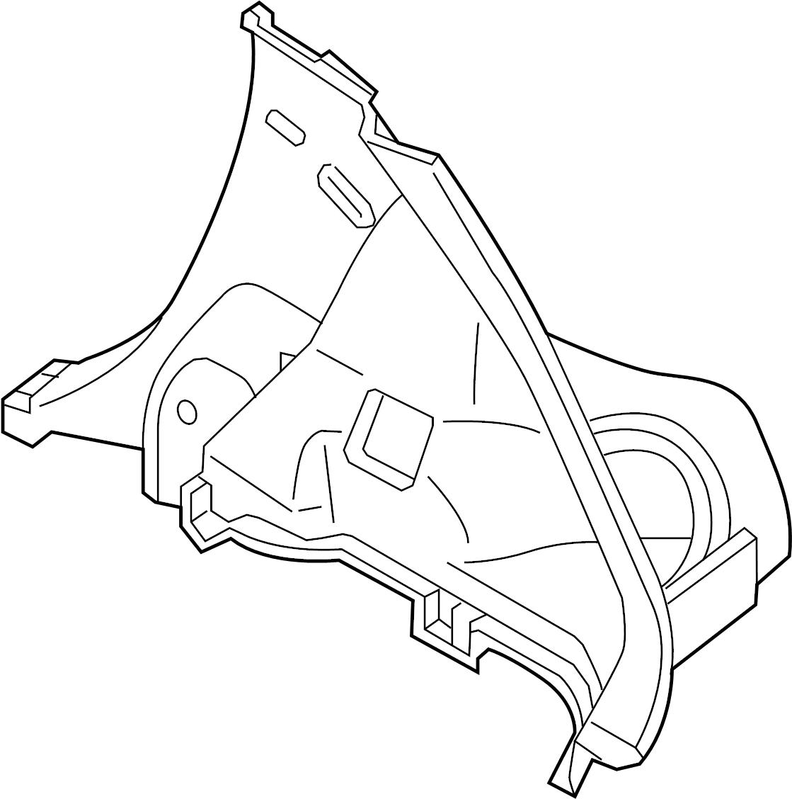 2014 nissan juke trim  quarter  panel  trim panel attached