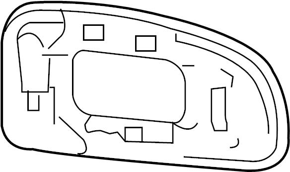 96365el10a Nissan Door Mirror Glass Front Right