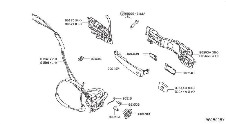 Nissan Sentra Clamp Antenna Cord  Clip Gas Filler Opener