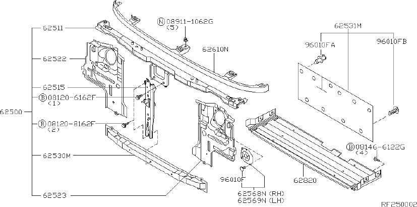 Datsun Pickup Radiator Support Splash Shield Clip  Door