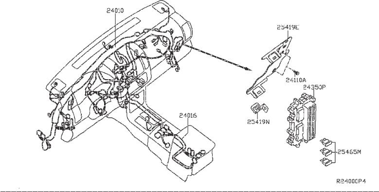 Nissan Frontier Tail Light Harness  Room  Fitting  Engine