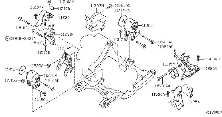 Nissan Altima Engine Mount  Front   Mounting