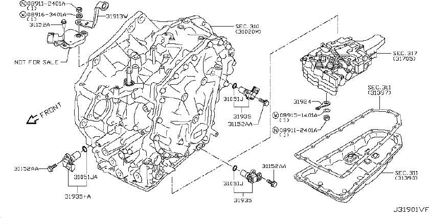 Nissan Altima Vehicle Speed Sensor. CVT, PRIMARY, CONTROL ...