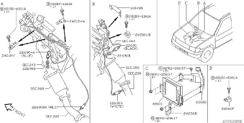 Nissan Pathfinder Ignition Knock  Detonation  Sensor  Control  Cupe  Module