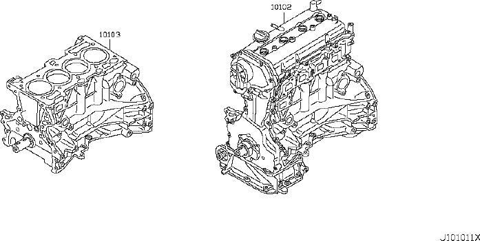 nissan rogue engine complete 10102 jm01f hyman bros Nissan 4 Cylinder Engine