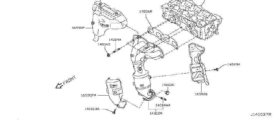 nissan rogue engine intake manifold exhaust 14001 jg35a QR25DE Rebuild Kit