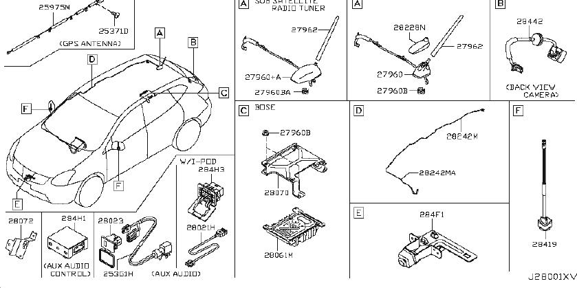 Nissan Rogue Radio Control Unit  Audio  Year  Model