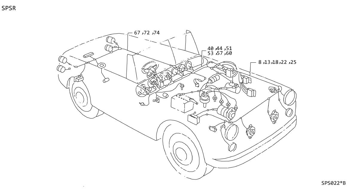 Nissan Pulsar Nx Cable Ground  Wiring  System  Electrical