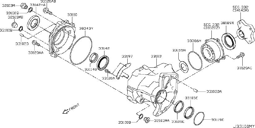 2013 Cadillac CTS Seal. Transfer case. Seal, trfer case ...  |All Wheel Drive Transfer Case Diagram