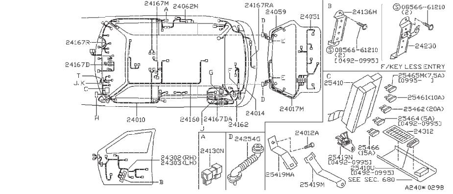 Nissan Sentra Clamp Cable  Clip Blind  Clip Wiring Harness