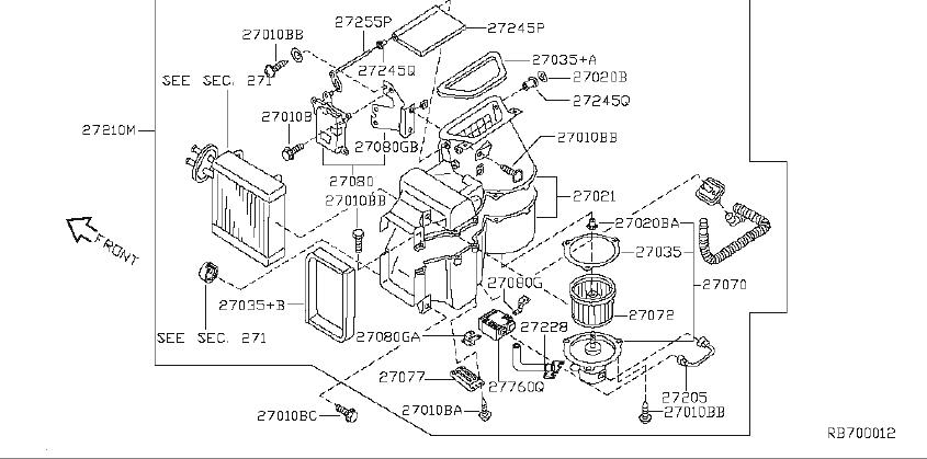 Nissan Quest Hvac Blend Door Actuator  Blower  Heater