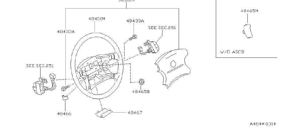 Nissan Quest Steering Wheel Plug  Left   Suspension