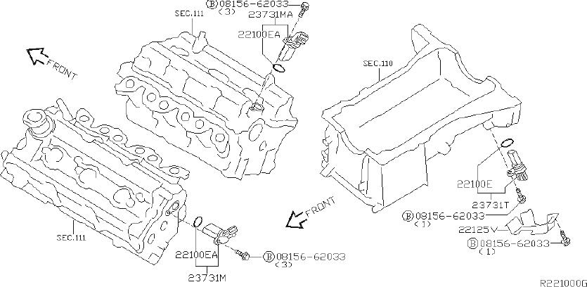 Nissan Quest Engine Crankshaft Position Sensor ...