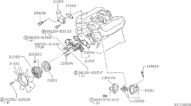Nissan Xterra Engine Coolant Thermostat Housing  Cooling