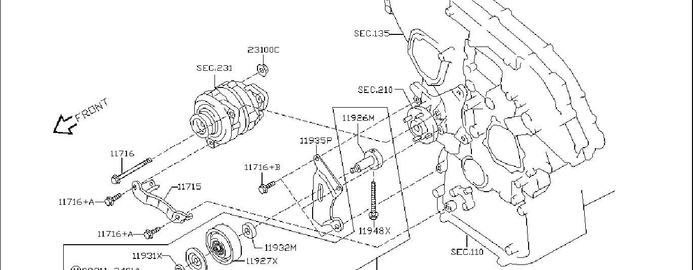 Nissan 350z Accessory Drive Belt Idler Pulley  Fitting