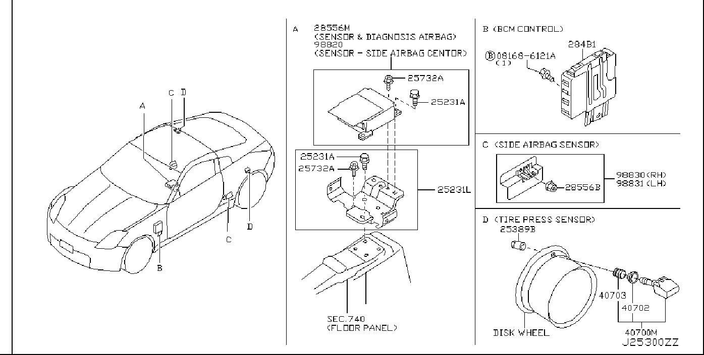 Nissan 350z Tire Pressure Monitoring System Control Module