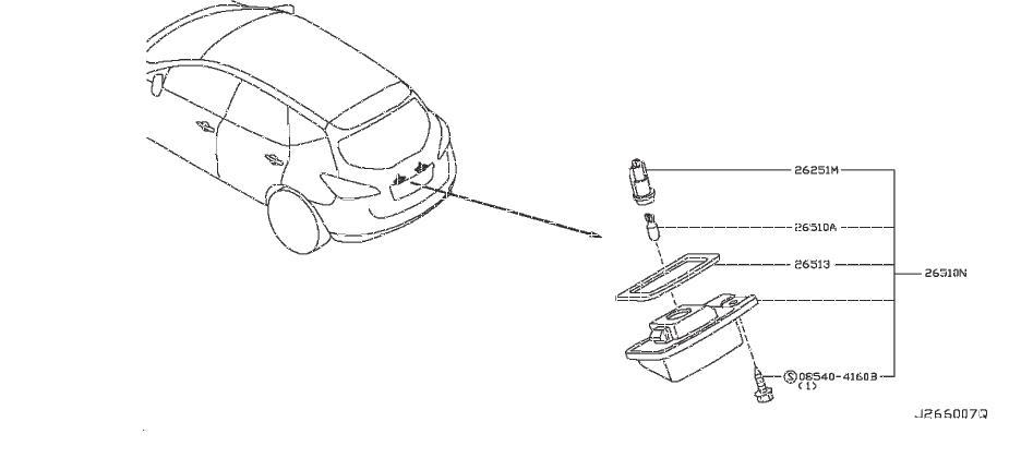 Nissan Murano License Plate Light  Wag  Lwb