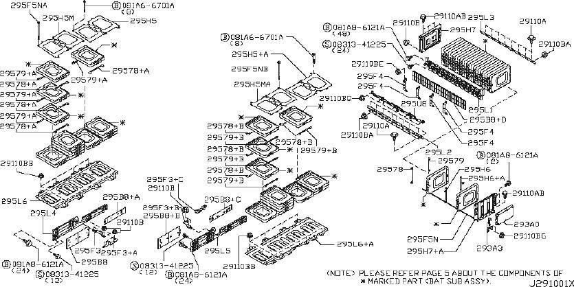Nissan Leaf Drive Motor Battery Pack Control Module Wiring ...