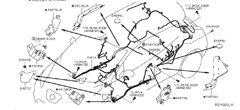 Nissan Leaf Bracket Engine Harness  Body  Room  Pkg